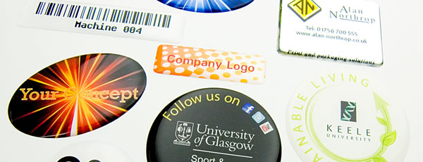 Domed labels and badges