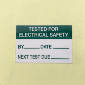 tested for electrical safety sticker
